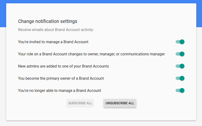Google My Business Notification Settings