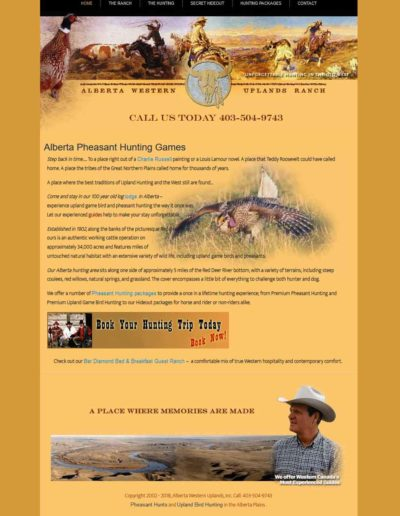 Alberta Western Uplands HTML to WordPress